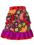 Flamenco Apron with Paisely / Black / Model Ysabel / G2381bk