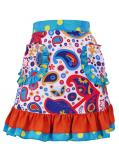 Flamenco Apron with Paisely / White / Model Ysabel / G2381wh