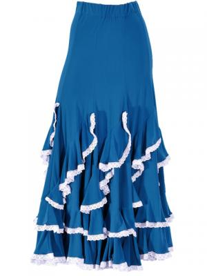 Flamenco Ruffles Skirt with Lace/ Blue / G1782bl