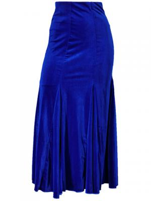 Mermaid Cut Flamenco Skirt with Velvet / Royal Blue / G1905rbb